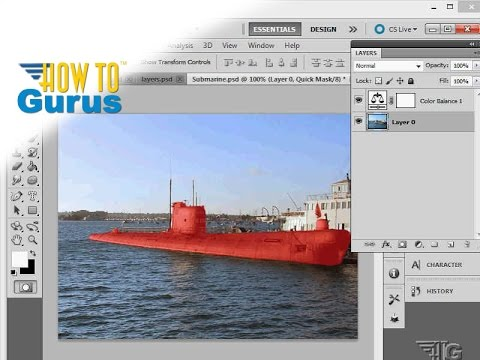 How to do Adobe Photoshop Masking in Quick Mask Mode - CS5 CS6 CC Tutorial