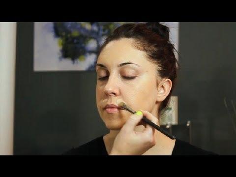 How to Apply Makeup to Cover Facial Hair : Makeup Tricks