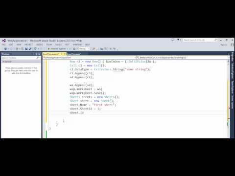 ASP NET - OpenXml - How to create simple Excel file and add values to cells