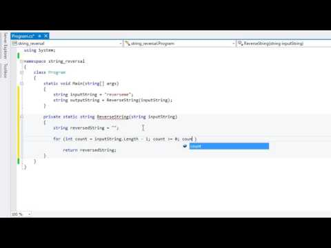 Reverse string in C# ( without library Reverse function) - .NET