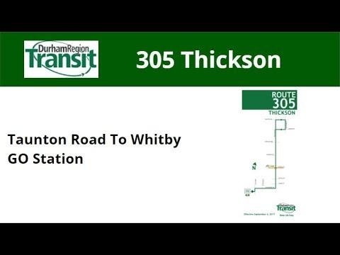 DRT 2017 NovaBus LFS #8574 On 305 Thickson (Taunton Road To Whitby GO - Full)