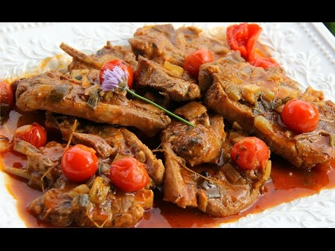 Caribbean Style Stewed Lamb Chops - Chris De La Rosa.