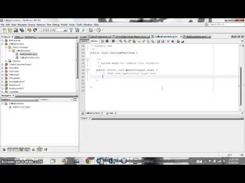 JAVA Tutorial 012 - Calling functions from another class
