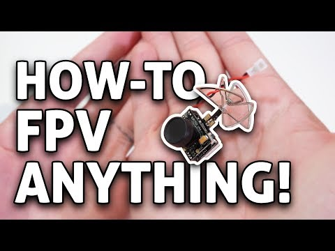 How-to RACE ANY RC Drone or Car w/ Tiny FPV Camera & VR Goggles!!