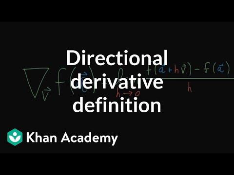 Directional derivative, formal definition