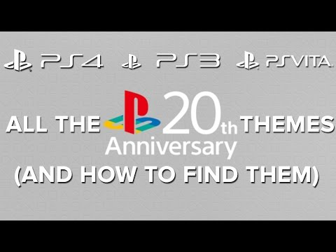 All the Playstation 20th Anniversary themes (And how to find them) - Eurogamer