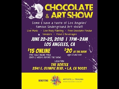 Chocolate and Art Show Paintings