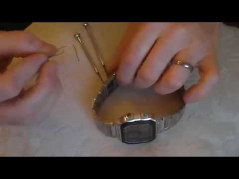 Casio metal watch bracelet how to remove links