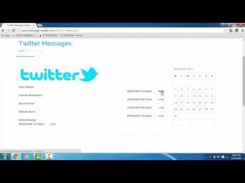 Read Text Messages Online - Twitter Messages