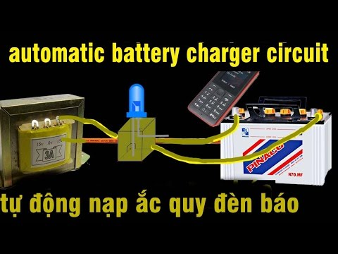 Automatic battery charger circuit breaker