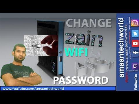 How to || Change || ZAIN || 4G Router || wifi || Password || In-Hindi || In-Urdu