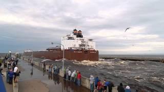 Giant ship going under the Lift Bridge in Duluth, MN Paul R. Tregurtha