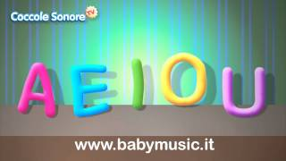 La Canzone delle vocali A E I O U  - Imparare con Coccole Sonore