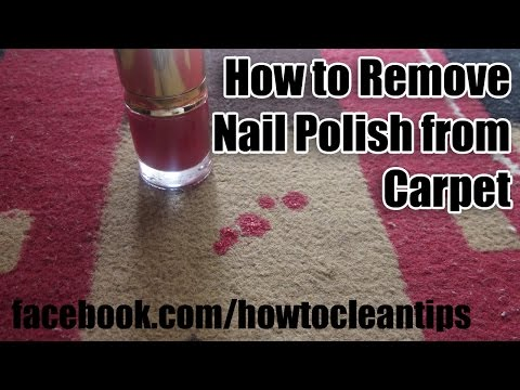 How to remove nail polish from carpet | Stain Removing Tips