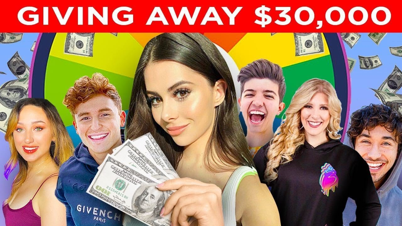 Giving $30,000 to Sick Kids - YOUTUBER GAME CHALLENGE !