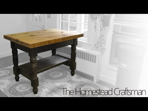 Building a Kitchen Island from Reclaimed Wood