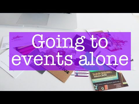 5 Tips to help you go to events alone
