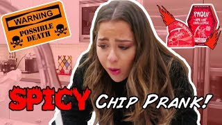 Spicy One Chip Challenge Prank she Cried
