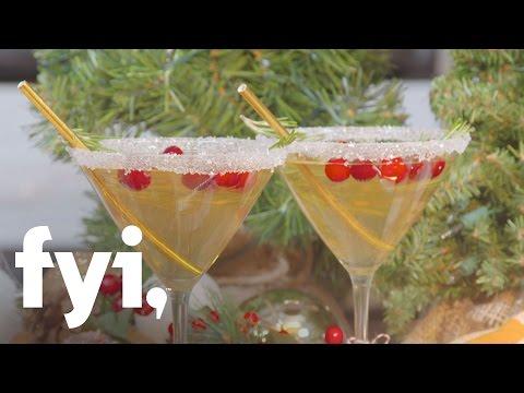 Beat the Chills: Christmas Tree Martini Recipe | FYI