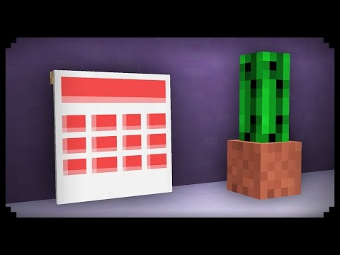 ✔ Minecraft: How to make a Calendar