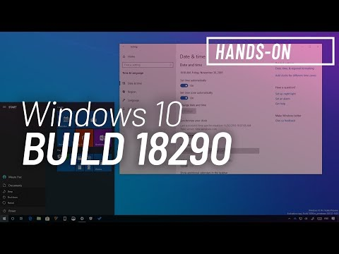 Windows 10 build 18290: Hands-on with Start menu, time sync, and more