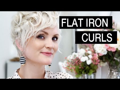 How to Style Short Hair - Flat Iron Curls