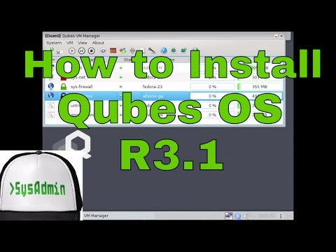 How to Install Qubes OS 3.1 + Review on VMware Workstation Easy Tutorial [HD]