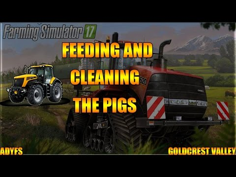 CLEANING AND FEEDING THE PIGS (FARMING SIMULATOR 2017)