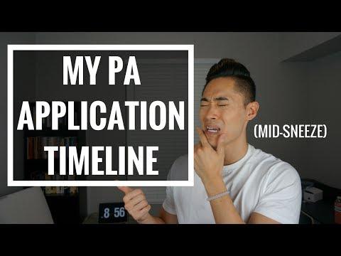 Pre-PA | My PA School Application Timeline!