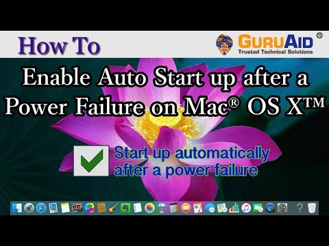 How to Enable Auto Start up after a Power Failure on Mac® OS X™ - GuruAid