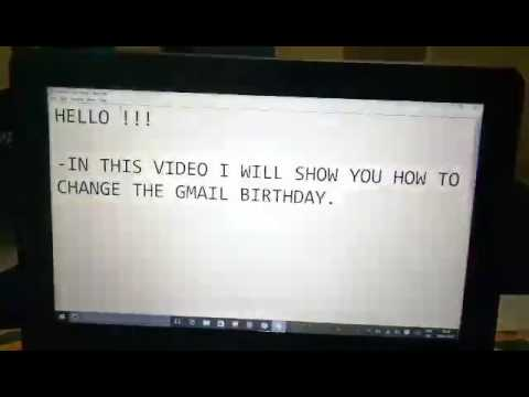How to Change Your Gmail Birthday in just 4 Steps.