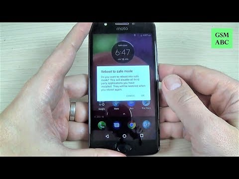 How to Reboot in SAFE MODE Motorola MOTO E4