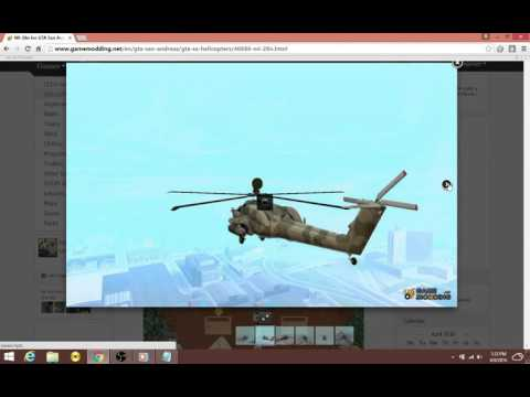 How to replace hunter for Mi-24n heli in GTA San Andreas?