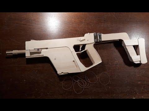 Semi-Auto Blowback Kriss Vector [Rubberband Gun]!! - Free templates