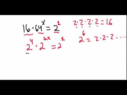 Exponential Equations GRE®