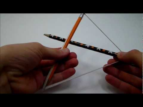 How to make a pencil bow