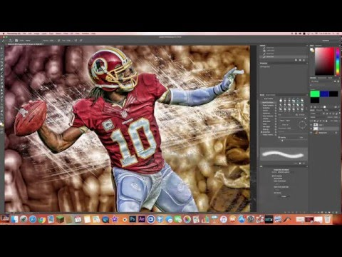 How to make EASY DOPE sports edits in photoshop