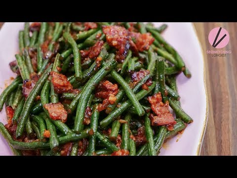 Spicy Stir Fried Chinese Long Beans 🎄Asian at Home Holiday Special Recipe🎄