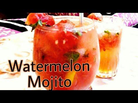 WATERMELON MOJITO / Quick & easy Refreshing Watermelon Mocktail recipe / Hot SUMMER'S DRINK/Mojito