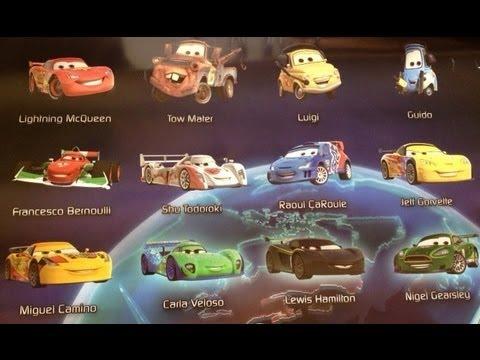 Disney Pixar Cars Names List Pixar Disney Cars