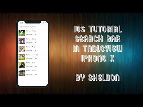 iOS Swift 4 Tutorial Search Bar in TableView #IOSbySheldon