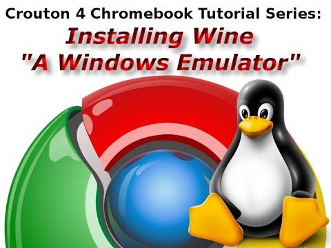 Crouton 4 Chromebook Tutorials: Installing Wine, a Windows Emulator