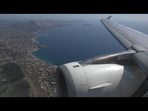 WONDERFUL GREEK LANDSCAPES! | Aegean A320 (Acropolis Livery) Landing in Athens! | [FULL HD/50 FPS]