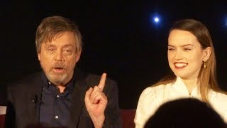 """Star Wars: The Last Jedi"" FULL press conference with Mark Hamill, Daisy Ridley, Adam Driver, more"