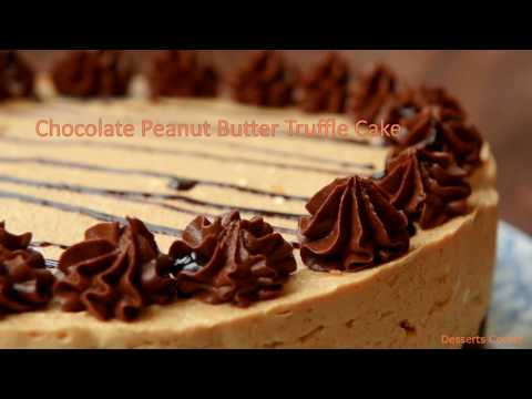 Chocolate Peanut Butter Truffle Cake