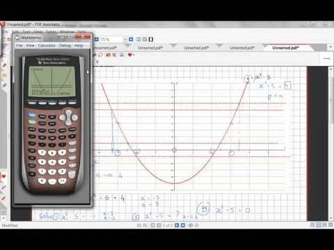 Solving equations using the GDC and the graph