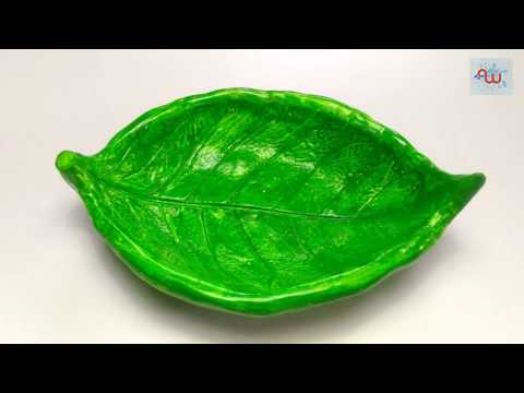 How to make a clay  leaf bowl | clay pot