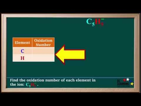 BCLN - Finding Oxidation Numbers Example 3 - Chemistry