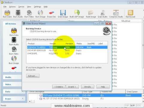 Guida StarBurn: Masterizzare un cartella VIDEO_TS per realizzare un DVD