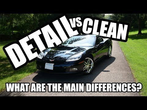 Differences Between Cleaning vs. Detailing a Car